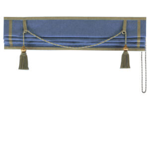 Made to Measure Royal Roman blind designed to add elegance to your home. Its luxurious large key tassels and matching trim will remain forever fashionable