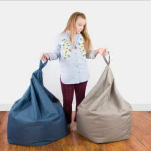Stain Resistant Samantha Bean bag 28 colourways Small & Large