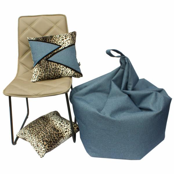 Vega+ pony skin animal print cushion and Bean bag Samantha
