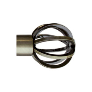 H5009F_Burnished Brass finial for LUNAR 28mm POLE by from Design-JR