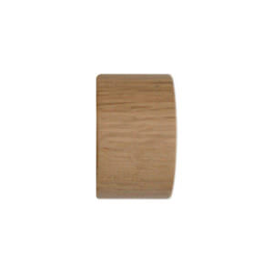 H5020F_OAK End Cap finial for LUNAR 28mm POLE by from Design-JR