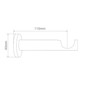 H6028BB barrel brackets for 28mm pole by from Design-JR
