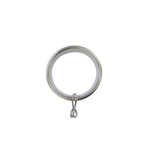 H6028R_Matt Nickel Metal curtain rings for 28mm curtain pole