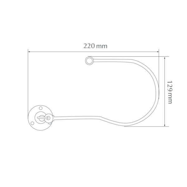 H6100 swing embrace chrome/antique brass/black nickel/matt nickel by from Design-JR