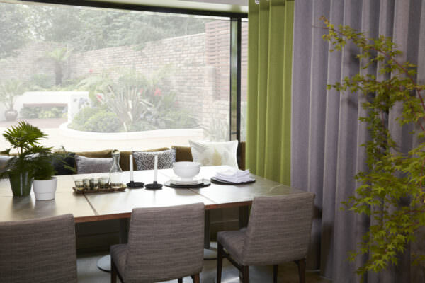 Made to Measure Eyelet Curtains Strata by Design-JR, 28 colourways, Made in the UK